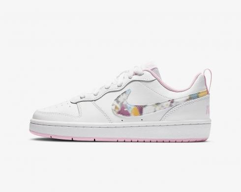 Nike Court Borough Low 2 SE White Pink Multi-Color CK5426-100
