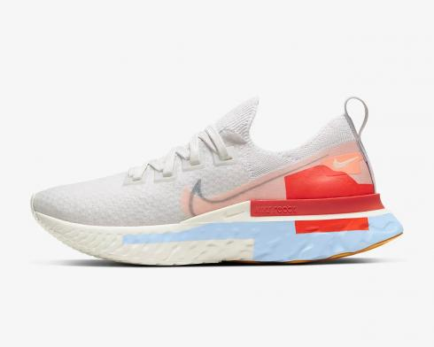 Nike Wmns React Infinity Run Flyknit Psychic Blue Coral Team Orange CU0430-001