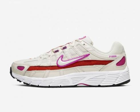 Wmns Nike P-6000 Essential Pale Ivory Fire Pink CW1351-100