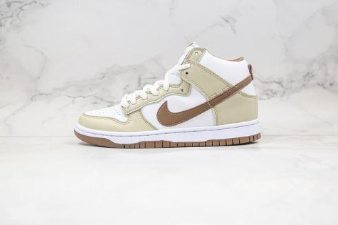 Nike SB Dunk High Retro Premium Khak Light Chocolate White DH5348-100
