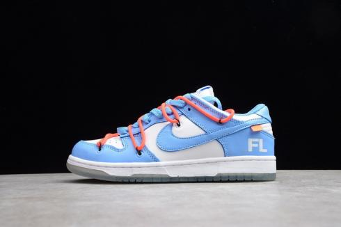 Off-White x Nike SB Dunk Low X Futura Collaboration White Blue CT0865-700