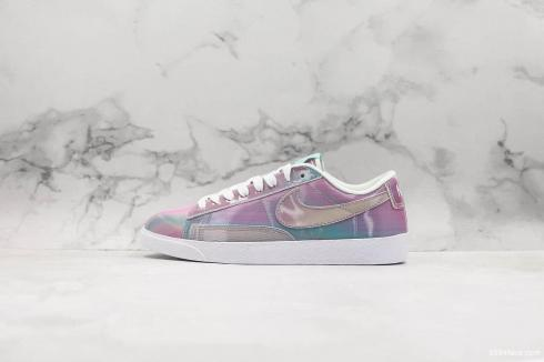 Nike SB Blazer Low PRM White Blue Purple Shoes AV9374-810
