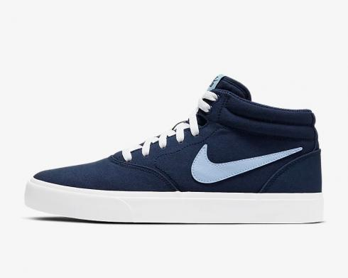 Nike SB Charge Mid Canvas White Blue Shoes CN5264-400