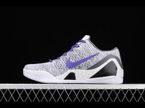 Nike Zoom Kobe XI Elite Low Grey White Purple Black 698595-111