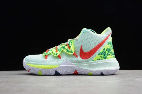 Nike Kyrie V 5 EP Youth Elite Competition Green Red Ivring Basketball Shoes AO2919-168