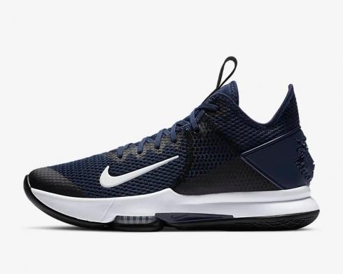 Nike Zoom Lebron Witness 4 Midnight Navy White Black Pure Platinum CV4004-401