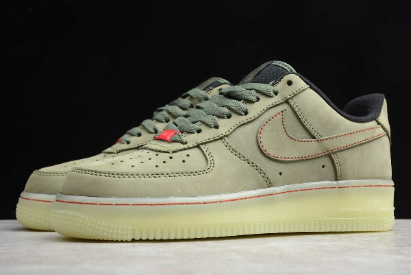 2020 Nike Air Force 1 Upstep Low Olive Green Military Green Cj6602 255 Febsale